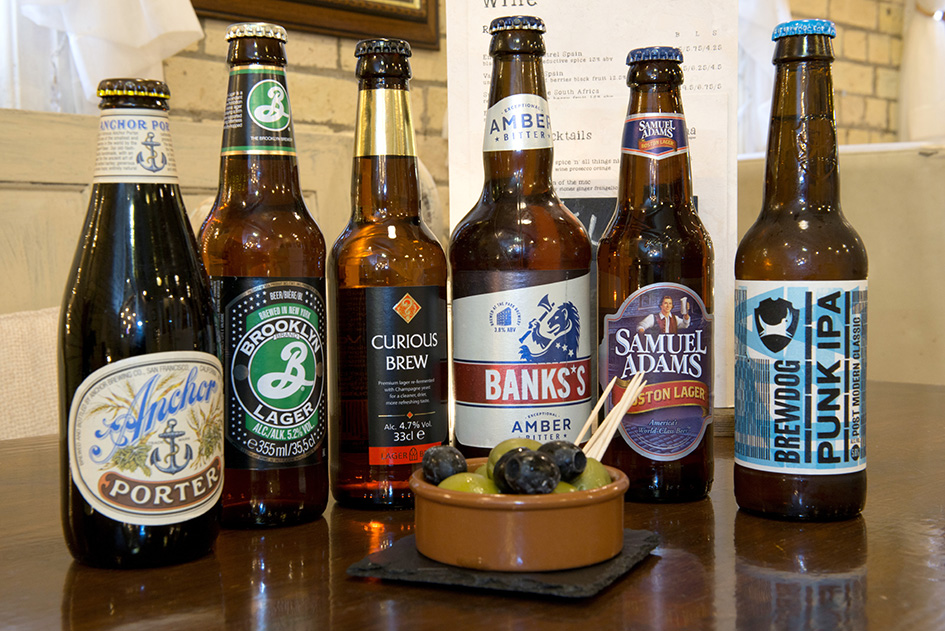 Selection of Craft lager