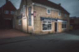 Photo of barber shop building, business branding, business photographer Cheshire, Ellesmere port