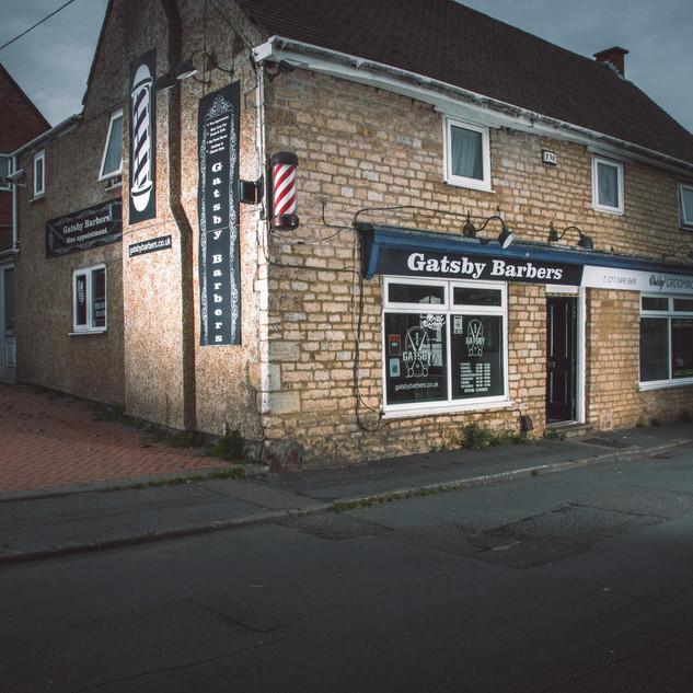 Barbershop business branding photography