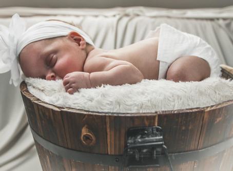 Pleasant time during the newborn photoshoot