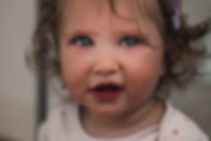 babyg girl close up portrait, adorable todler, curly hair, baby photographer Cheshire