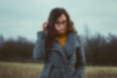Brunette fashion model wearing grey coat, autumn photoshoot, portrait photographer, Ellesmere port, Cheshire