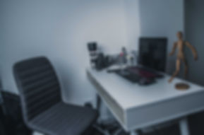 Editing desk in the photography studio in Ellesmere Port, Cheshire