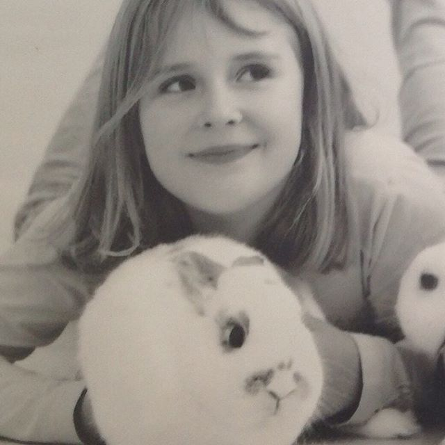 Throwback to when I was 7 years old and my rabbit was still alive and I was just a happy little cupc