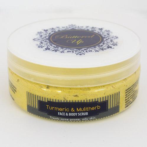 Turmeric and multiherb face & body scrub 4oz