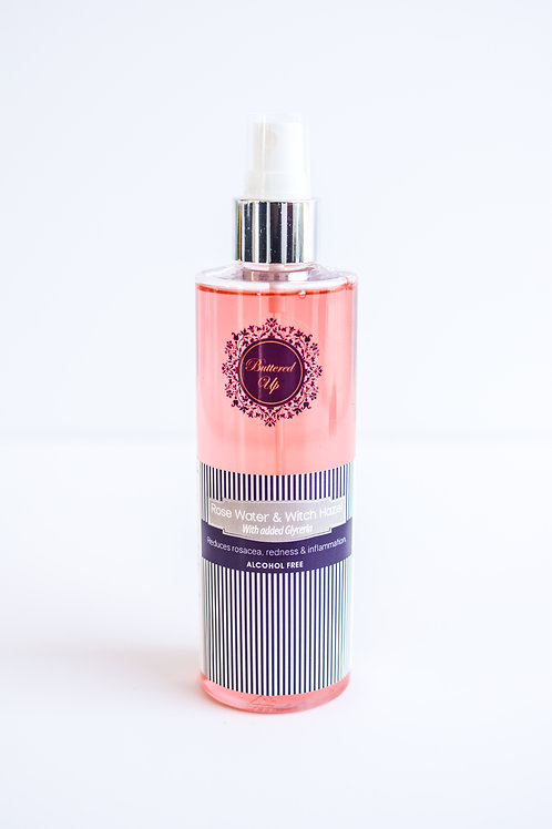 Rose water with Witch Hazel Toner 8oz
