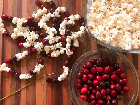 How to Make An Old-Time Popcorn and Cranberry Garland
