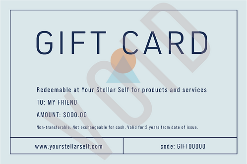 Your Stellar Self $150 Gift Certificate