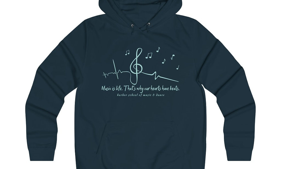 Music Is Life Girlie College Hoodie