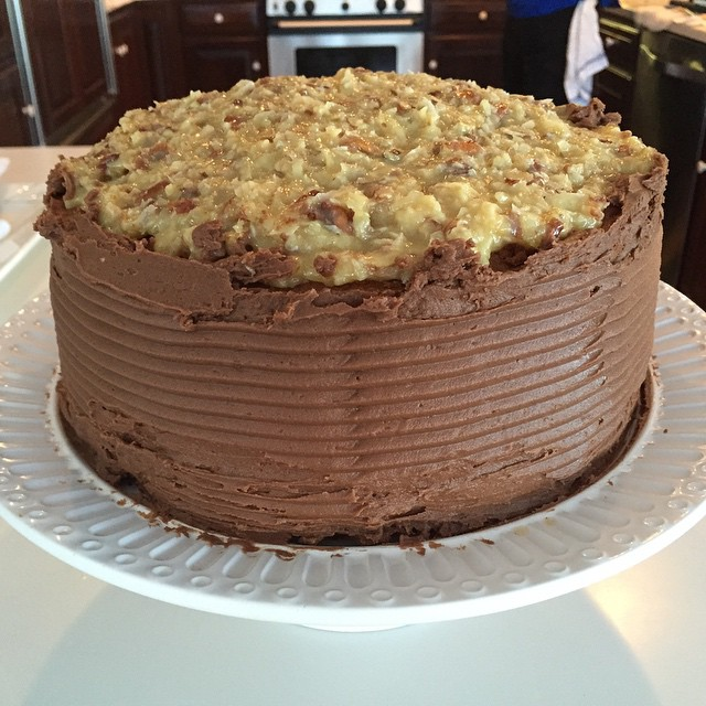 #German #chocolate #cake #coconut #pecan #charlestonpersonalchef #vacationchef #birthday with Jeff W