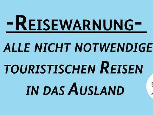 ألمانيا تحذر مواطنيها من السفر السياحي والغير ضروري الي جميع دول العالم حتي ١٤ يونية ٢٠٢٠