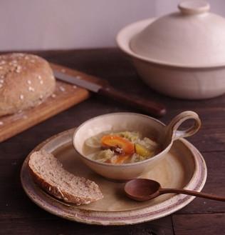 黄化粧スープ丸マグ/リム深皿
