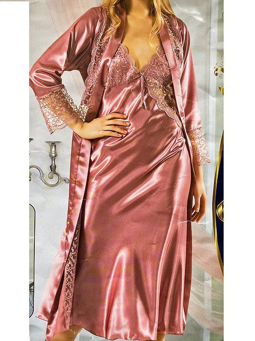 Flamingo Pink Luxury Slip dress and Gown
