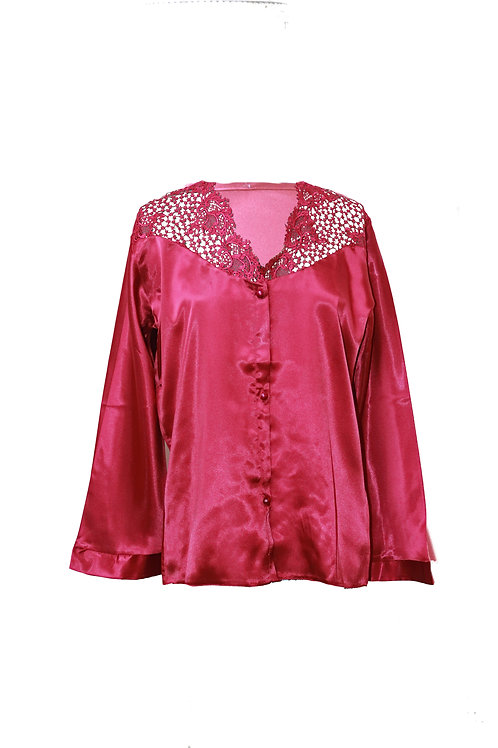 Saffron Deep Red Luxury Pyjama Set