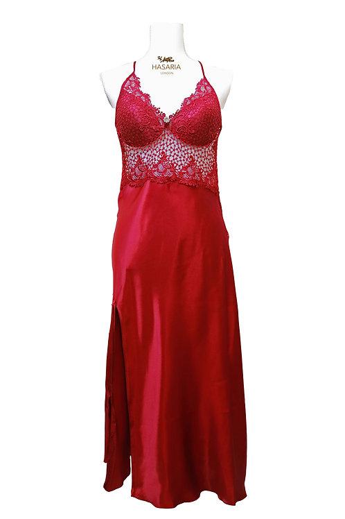 Saffron Deep Red Luxury Slip Dress