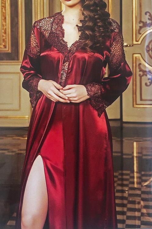 Saffron Deep Red Luxurious Gown