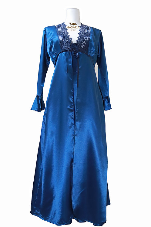 Royal Blue Dressing Gown
