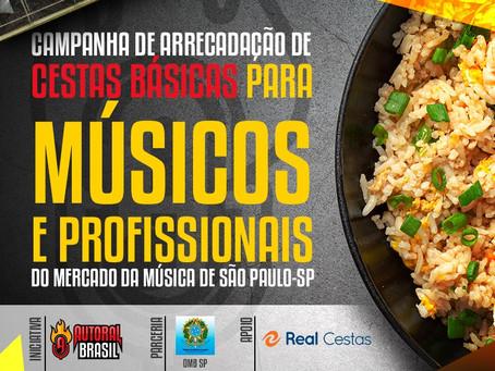 Autoral Brasil Kiss FM inicia campanha de arrecadação de alimentos