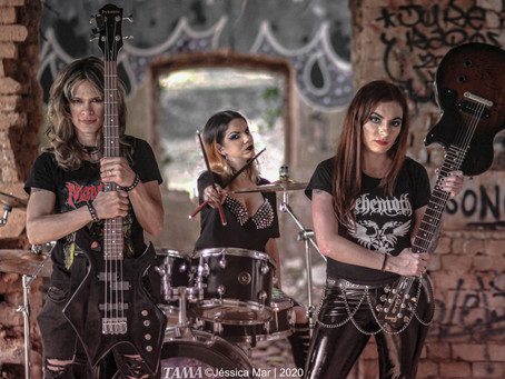 The Damnnation:  Trio Feminino detona no Thrash Metal.