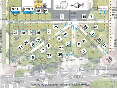 """5-7-21 Ghent Farmers Market Line-up and Map """"Rain or Shine"""""""