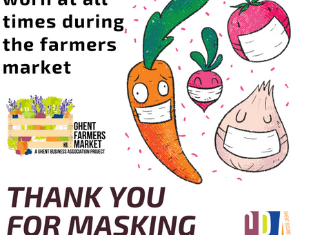 Mask must be worn at all times during Our Market!