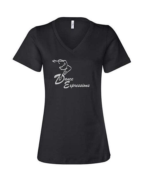 DE Black V Neck Shirt - Adult Sizes