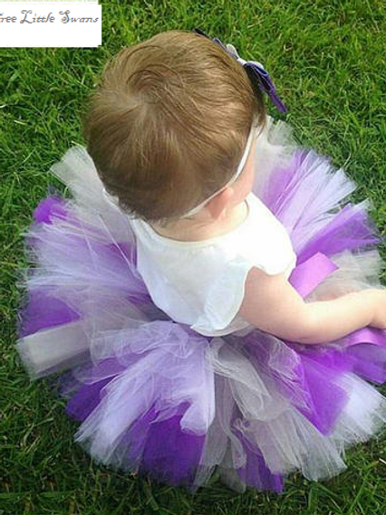 Grey and purple tutu