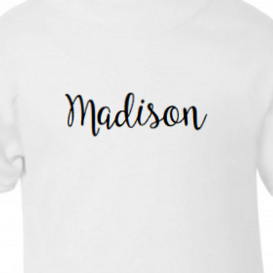 Personalised name cotton dress