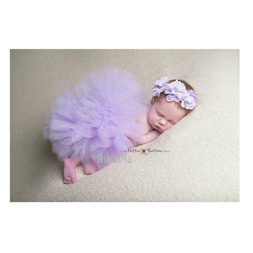 Purple tutu and headband set