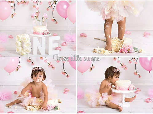 Baby pink and gold tutu