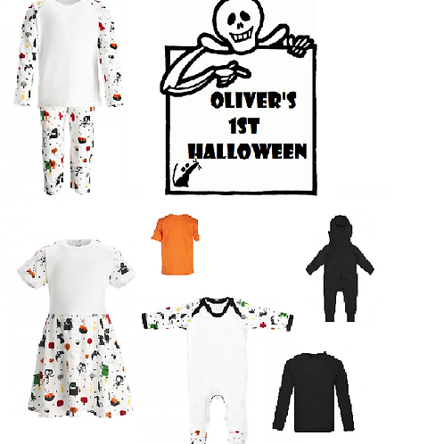 Personalised Skeleton Halloween desgin