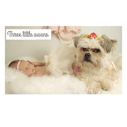 Newborn HALF tutu & headband set