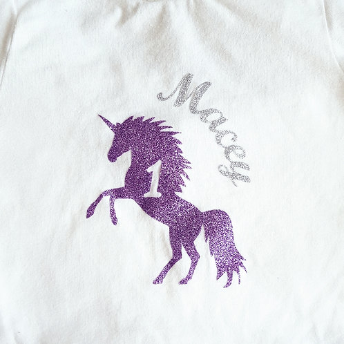 Personalised Unicorn Playsuit (with or without age)