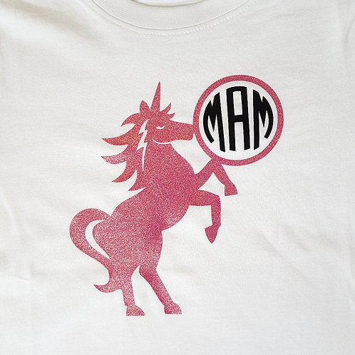 Personalised unicorn monogram playsuit