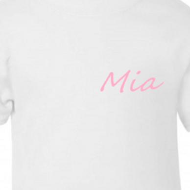 Personalised simple name dress