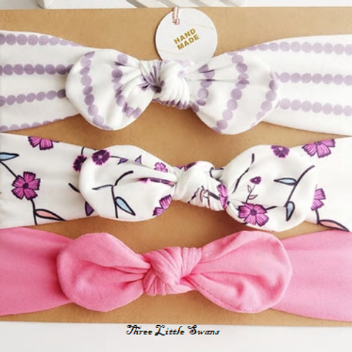 Spring topknot headband set