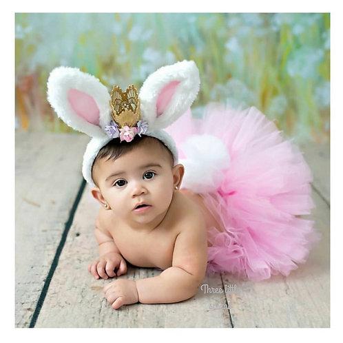 Pink bunny tail tutu