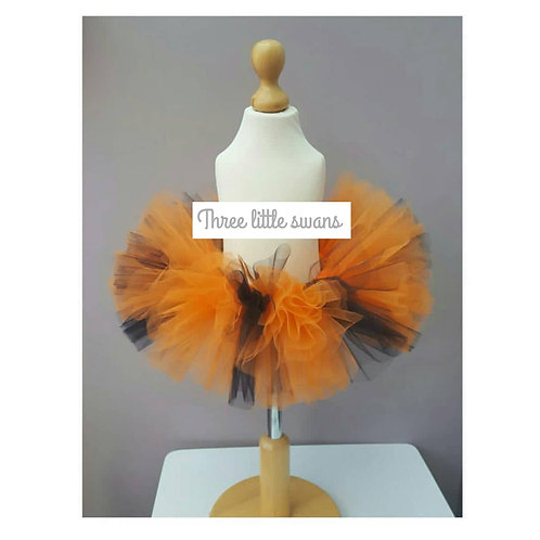 Halloween orange and black tutu