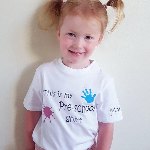 Personalised This is my pre-school / nursery etc shirt