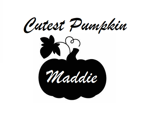 Personalised Cutest Pumpkin Halloween desgin