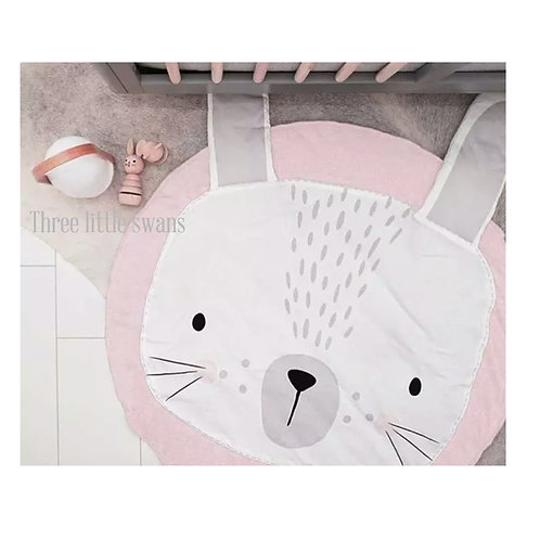 Pink bunny playmat (with personalised options)
