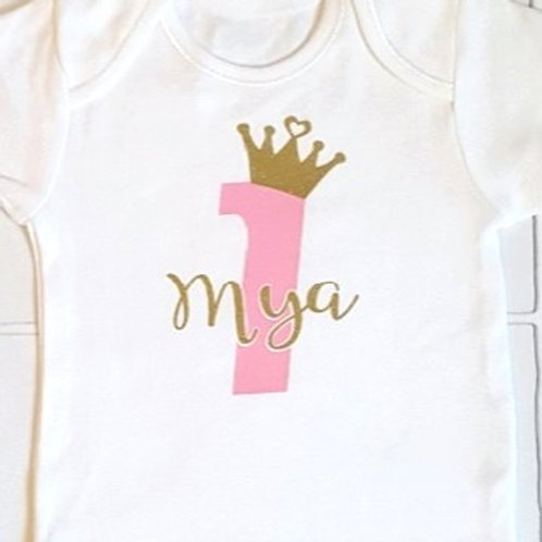 Personalised birthday crown playsuit