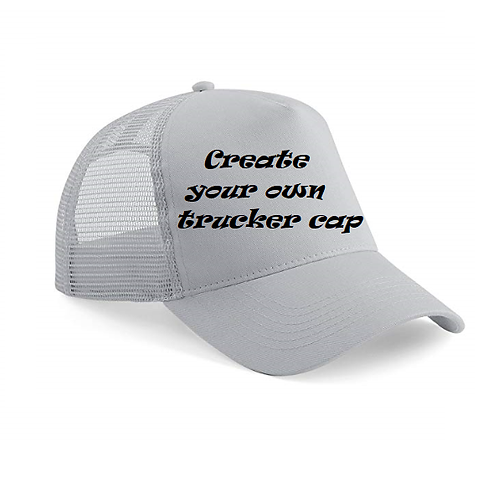 Create your own trucker cap
