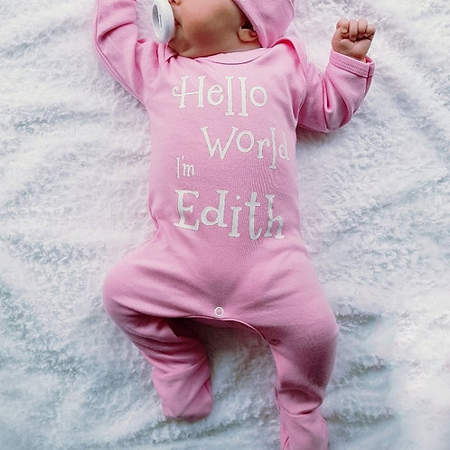 Personalised Hello World Rompersuit