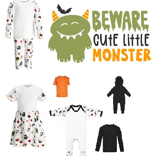 'Beware cute little Monster' Halloween desgin