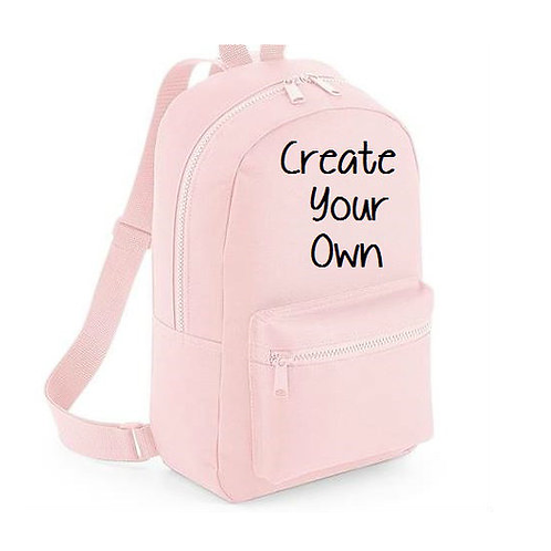Create your own mini essential backpack