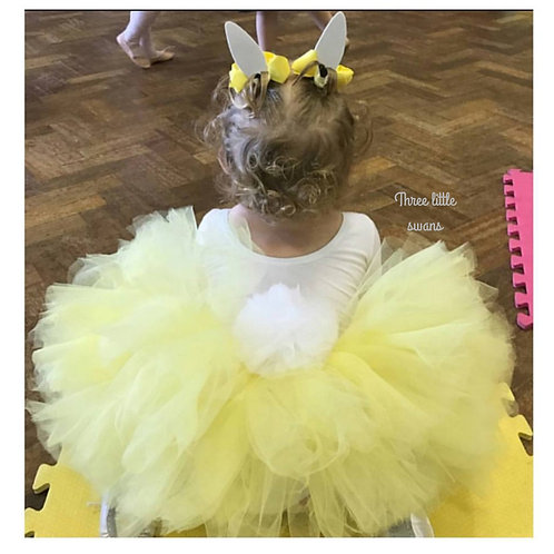 Yellow bunny tail tutu