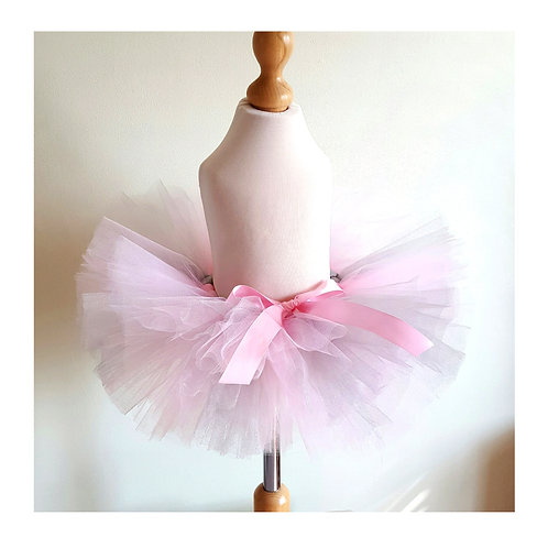 Baby pink and silver tutu