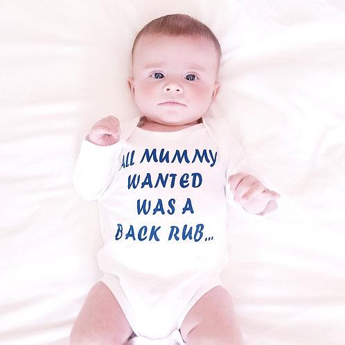 Funny slogan bodysuit / vest