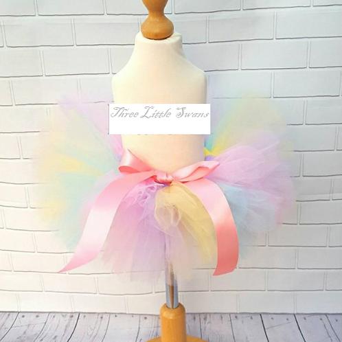Pastal rainbow tutu